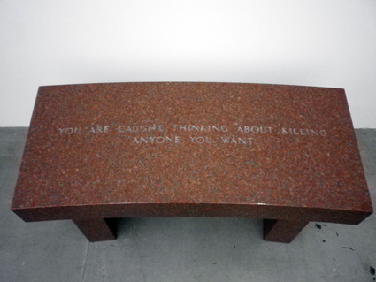 Jenny Holzer, Survival_You are caught thinking about killing anyone you want, 1989