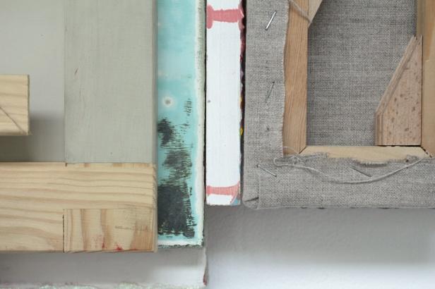 Guillermo Mora ES, Mensaje IV, (Detail), 2008, leftovers from studio, 38.5 x 64.5 x 8cm
