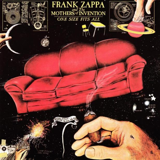Pochette de l'album One Size Fit All de Frank Zappa.