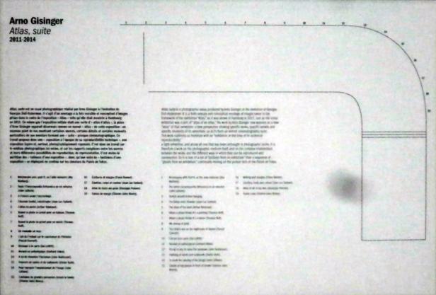 plan des murs de l'exposition (Gisinger)