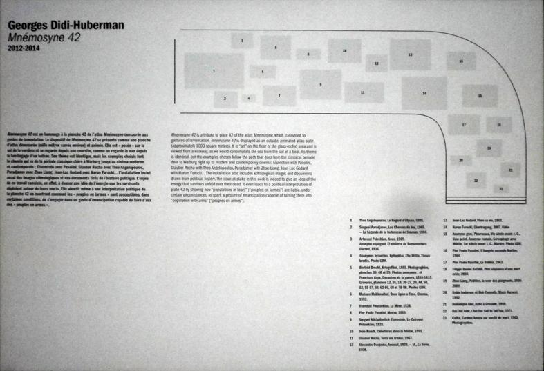 plan du sol de l'exposition