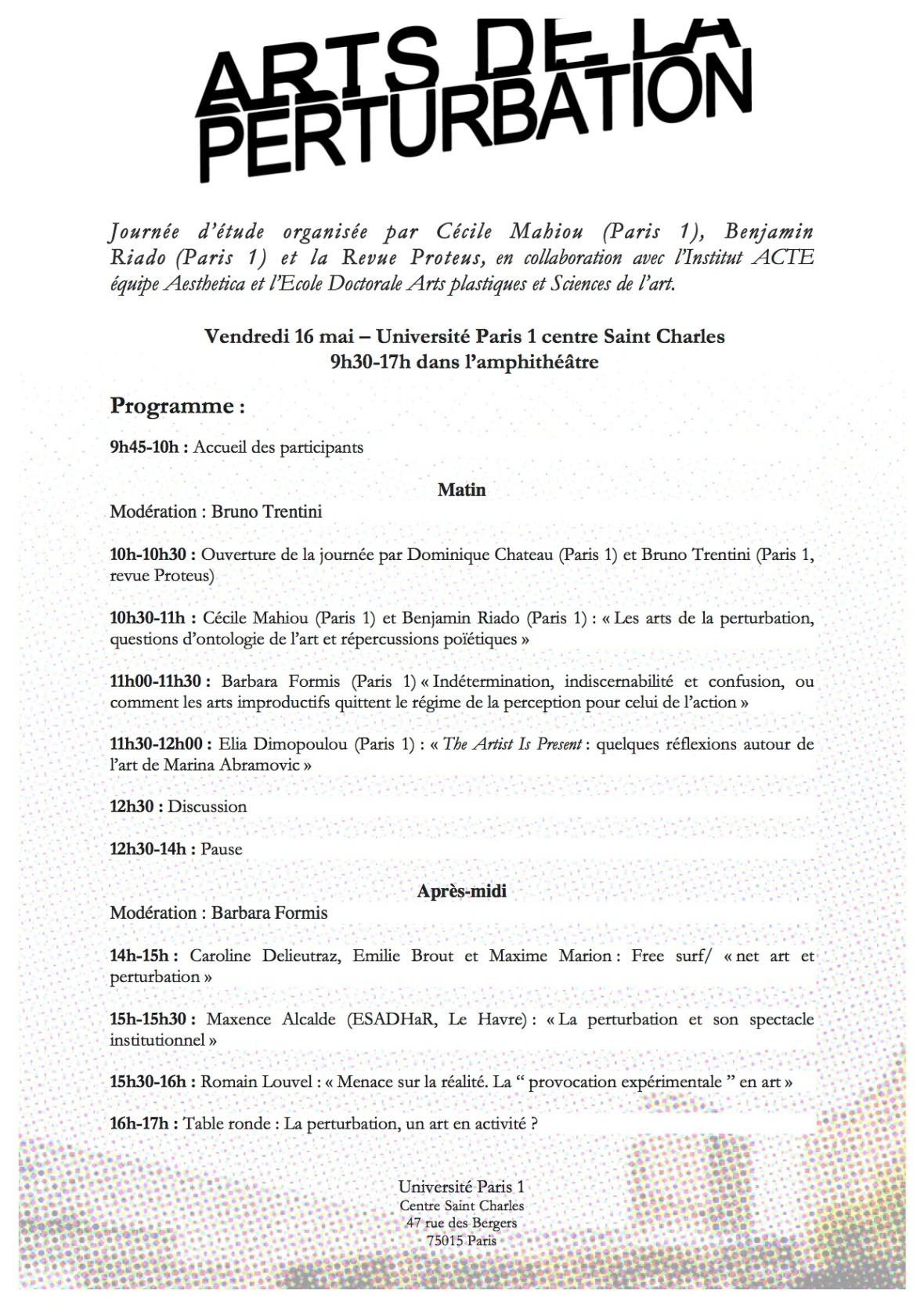 PerturbationProgramme