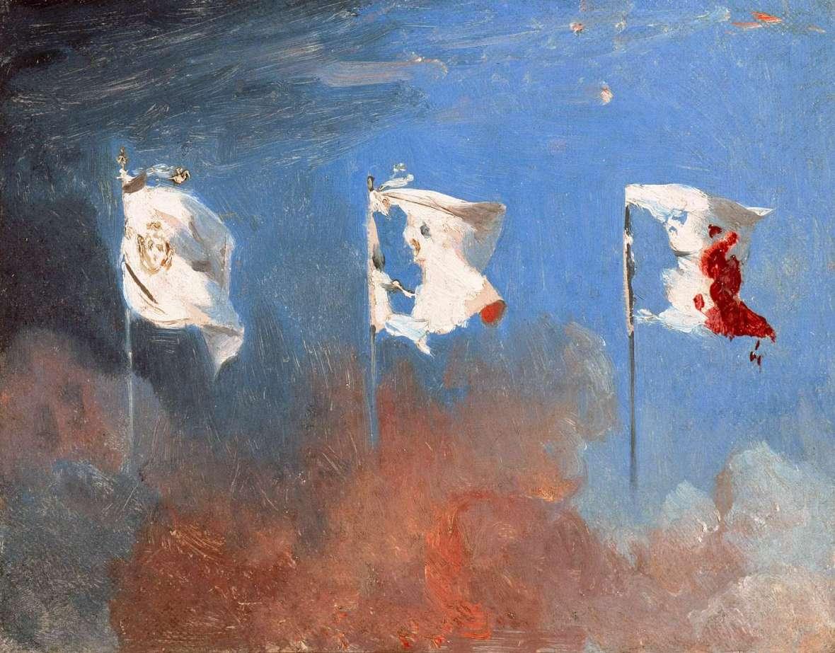 Léon Cogniet, Les drapeaux, 1885. Huile sur toile.