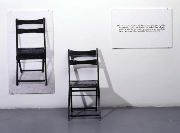 Joseph Kosuth, One and Three Chairs, 1965.